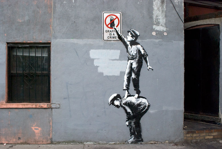 Banksy - Graffiti is a crime (NYC)