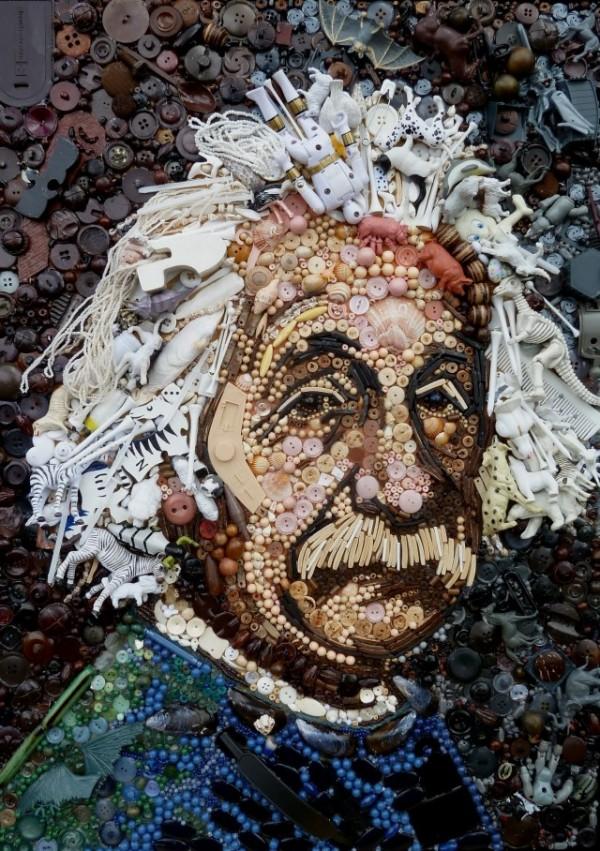 Jane Perkins Plastic Classics: Vincent Van Gogh after Van Gogh's own Self-Portrait