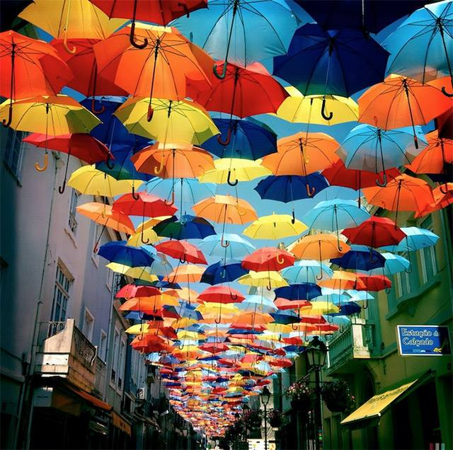 Umbrellas in Agueda