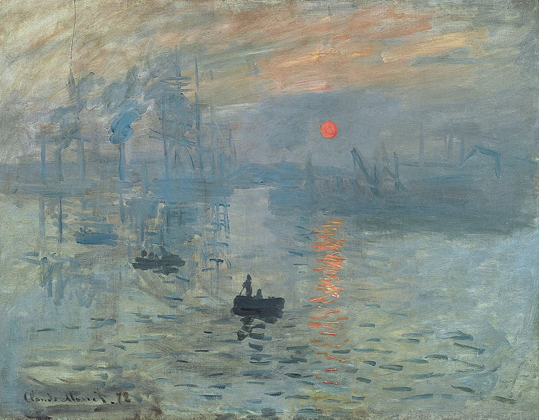The French Impressionists challenge of the Salon: Claude_Monet_Impression,_soleil_levant