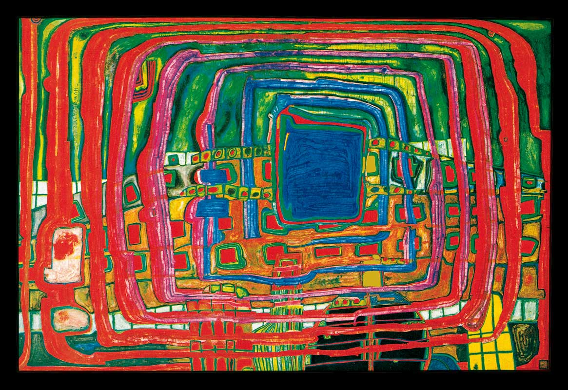 Hundertwasser at ARKEN in Copenhagen.