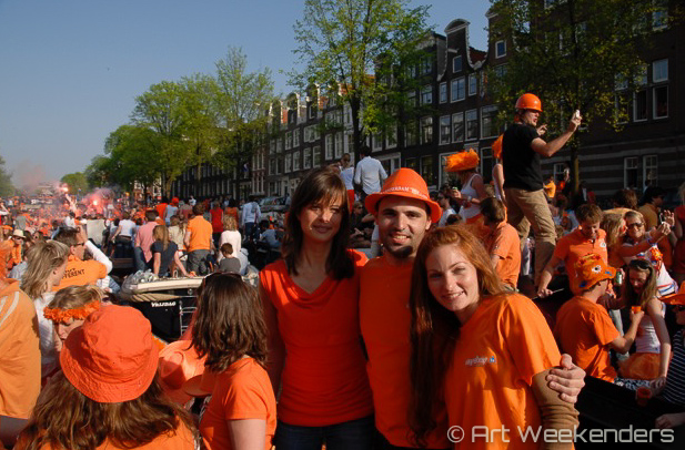 Kingsday in Amsterdam, The Netherlands
