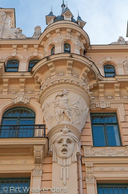 Riga travel tips: 2014-Latvia-Riga-art-nouveau