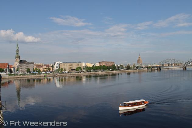 Riga travel tips: 2014-Latvia-Riga-Daugava-boat