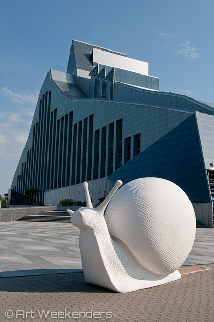 Latvia-Riga-Snails-Contemporary-Art-national-library