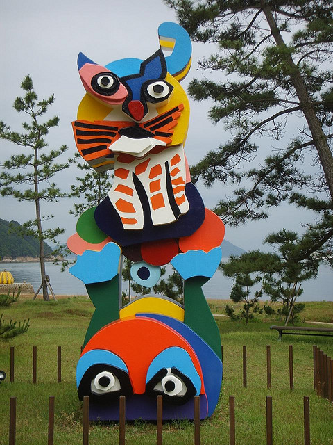 Naoshima-Japan-Karel-Appel-Frog-Cat