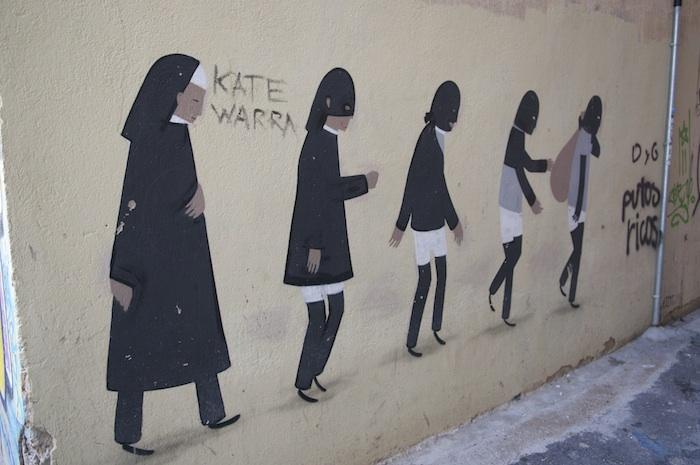 Spain-Valencia-street-artist-Escif-nun