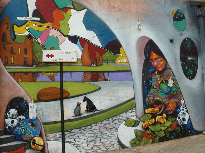 Chile-Valparaiso-indigenous-street-art