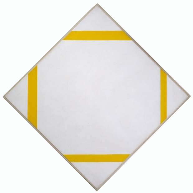 Facts About Piet Mondrian: Mondrian-Composition with Four Yellow Lines 1933