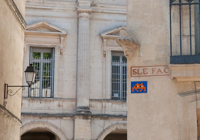 Streetart Montpellier: France-Montpellier-Streetart-Space-Invader