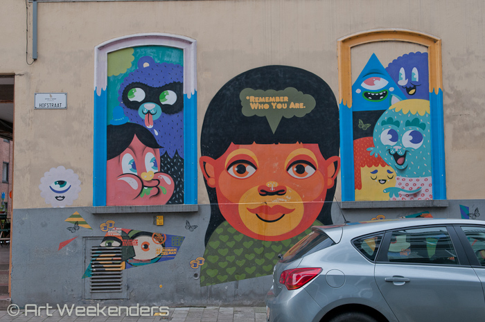 Street Art in Ghent: 2014_Belgium_Ghent_Street_Art-Bue-The-Warrior