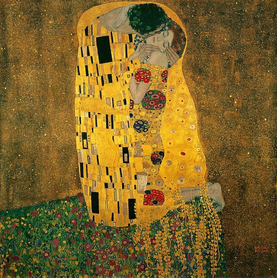Best Exhibitions in Paris: The Kiss by Gustav Klimt, exhibition Paris