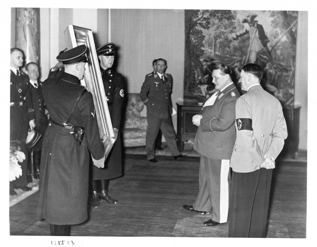 Art second world war Hitler and Goering with Painting (Library of Congress, Washington, D.C.)