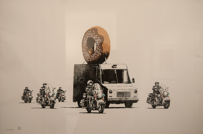 Banksy Exhibition Amsterdam Lionel Gallery - 2015-The-Netherlands-Banksy-In-Amsterdam-Lionel-Gallery-donut-truck