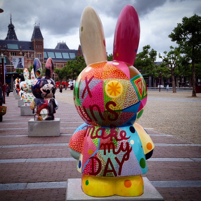 Free Outdoor Events In Amsterdam This summer: Miffy-Art-Parade-in-Amsterdam-Nijntje-60-jaar